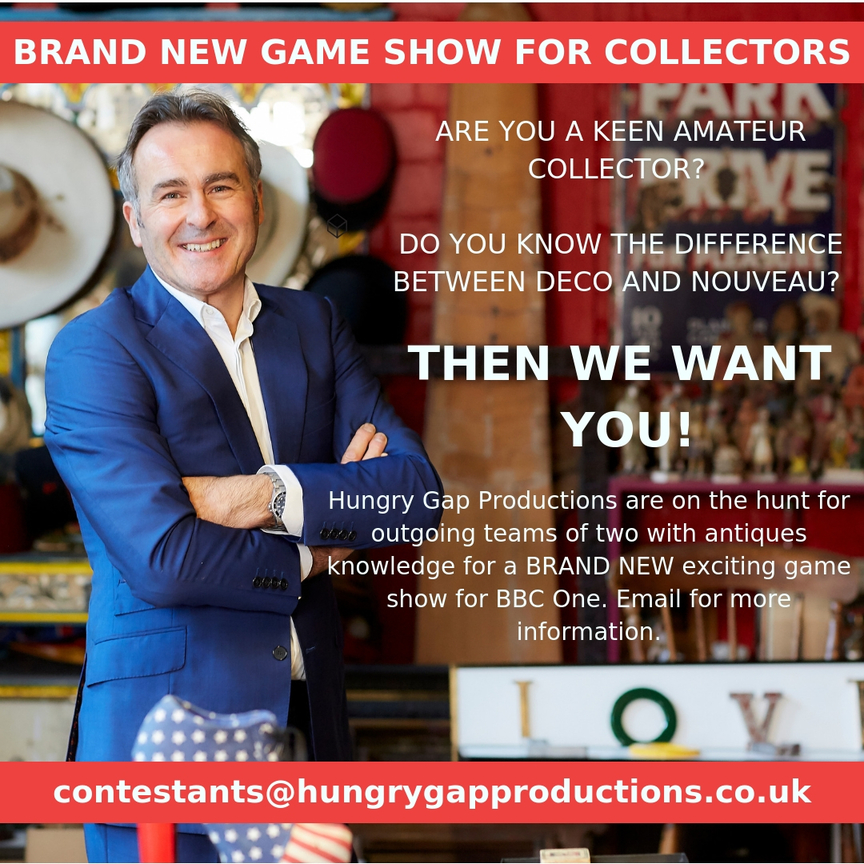 Antiques News & Fairs - Brand new BBC TV series for collectors