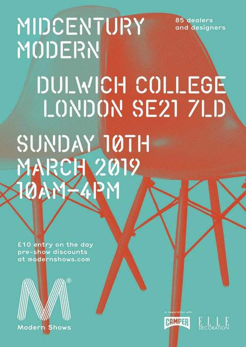 Antiques News & Fairs - Midcentury Modern at Dulwich College - 10 March 2019