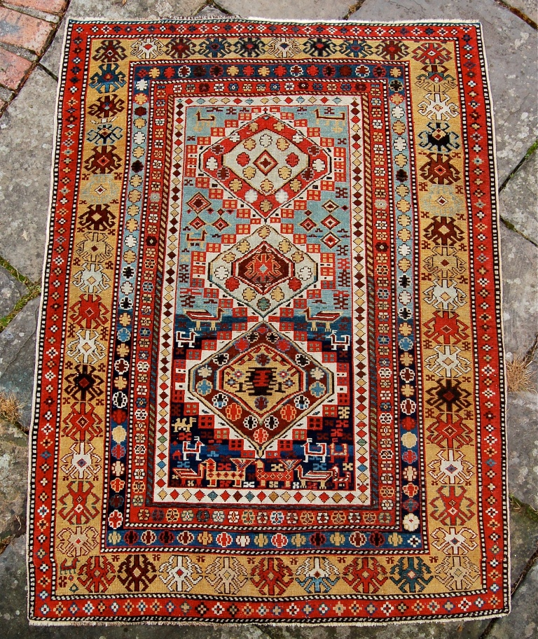 Antique News - Antique Fair - Antique Shirvan Rug, on show at LARTA