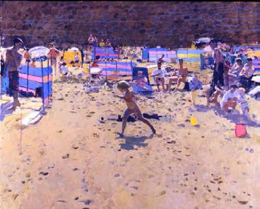 Ken Howard 'Running Child', £35,000 from Manya Igel Fine Arts