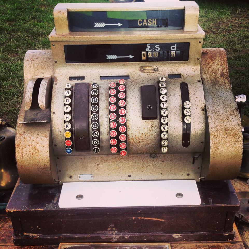 Cash Register at Ardingly International Antiques & Collectors Fair